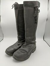 Ariat Winter Riding Boots Waterproof Insulated Zip Leather Suede Black Womens 8B