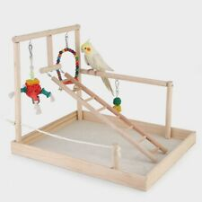 Bird Training Perch Stand Wood Perch Gym Stand Playpen Exercise Playgym Type 2