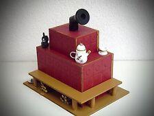 madera horno Casa ahumeante Figura Fumador Para Ahumar Estufa de Azulejos rojo