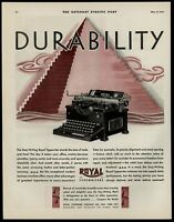 Royal Typewriters 1930 Color Saturday Evening Post Advertisement