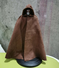 "1/12 Scale Soldier Clothes Star Wars Hooded Dark Brown Cape Cloak F 6"" Doll"