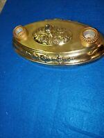 Vintage polish brass ceiling flush mount light fixture