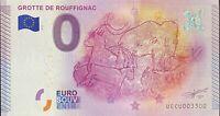 BILLET 0  EURO GROTTES DE ROUFFIHNAC  FRANCE 2015 NUMERO 3300