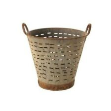 Olive Bucket/Basket Vintage, Farmhouse Rustic Decor