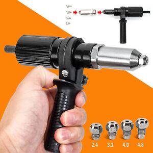 2.4mm To 4.8mm Electric Rivet Nut Gun Riveting Tool Cordless Riveting Drill