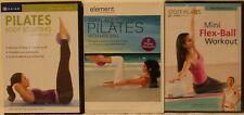 3 Mini flex Ball Pilates workout exercise Dvd lot body sculpting total stott