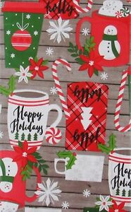 Discount Christmas Vinyl Tablecloths - Various Patterns and Sizes-New W/Defect