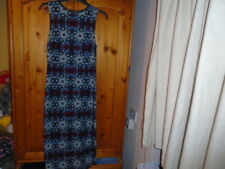 Deep blue, plum and mint green calf to ankle dress, ATMOSPHERE, 12-14, NEW