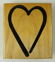 """Bodacious Bolds Simple Heart Valentine Rubber Stamp JRL 6022 3.25 x 2.5 """""""