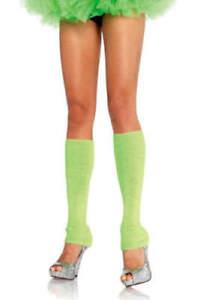 Leg Warmers Footless Leg Avenue Women's Knee High Brite Green New Active Fashion