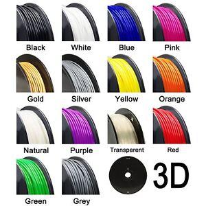 3D Printer Filament - PLA - 1.75mm - 500g - Various Colours
