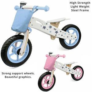 KIDS BALANCE TRAINING FIRST BIKE BICYCLE LIGHTWEIGHT ADJUSTABLE SOFT SEAT BELL