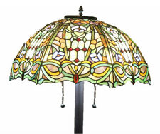 "Tiffany Style Stained Glass Floor Lamp ""Regency"" w/ 20"" Shade -FREE SHIP IN US"