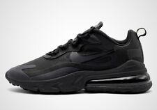 Nike Air Max 270 React TRIPLE BLACK BLACKOUT ALL AO4971-003 Running Men Training