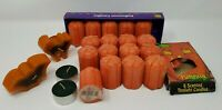 Large Lot of Vintage Halloween Jack O Lantern Pumpkin Candles