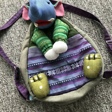 Baby Kid Toddler Backpack  Bag Elephant front pocket back  zip pocket