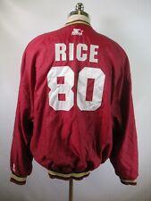E9088 VTG STARTER San Francisco 49ers Rice 80 NFL Football Pullover Jacket 2XL