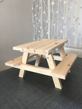 SELLER AWAY. Afternoon Tea Mini Picnic Bench/Table - Cup Cake Stand - Food Disp