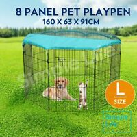 """36"""" 8 Panel Pet Dog Playpen Enclosure Puppy Exercise Fence Cage W/ Fabric Cover"""