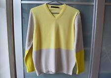Bloque de lana de color amarillo Reiss Gris Suéter de punto ~ S