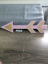Darice Wood Arrow~Pink~Gold~Brand New ~Shipn24