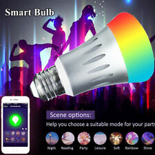 7W Smart Bulb E27 Wireless WiFi Remote Control Lamp Light for Amazon Echo Alexa