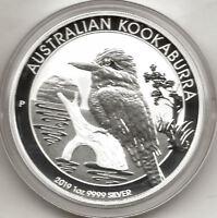 Australia 2019 1 dolar 1 onza plata pura Kookaburra