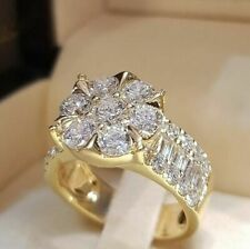 Sapphire Wedding Party Jewelry Size 10 14k Gold Filled Mens Rings Fashion White