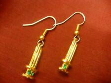 Eastern Star Martha starpoint earrings OES  rhinestone gold colour crown NEW