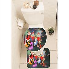 Alice In Wonderland Set of 3 Bathroom Rug Set Mat Toilet Lid Cover y70 w0003
