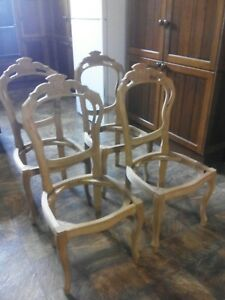 ITALIAN/FRENCH ANTIQUE FURNITURE PROJECT:SET CARVED Timber Period CHAIRS Frames