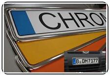Kennzeichenhalter CHROM Kennzeichenhalterung 2 Stück BMW
