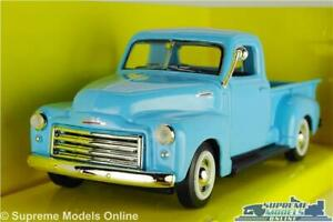 CHEVROLET GMC MODEL PICK UP TRUCK 1950 BLUE AMERICAN CHEVY 1:43 SIZE SIGNATURE K