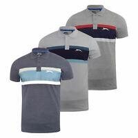 Mens Polo Shirt Contrast Slazenger Collared Neck  Top Mark