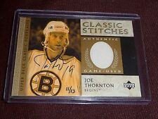 04-05 SP Authentic BUYBACK Joe Thornton * 11/13 * AUTO JERSEY (02-03 UD STITCHES