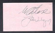 John Lloyd & Ilie Nastase Autographed 4x6 Card Great for Framing Tennis Doubles