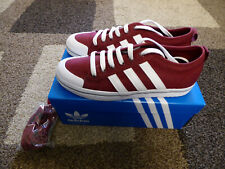 Womens Burgundy Adidas Originals Trainers - Honey Low Stripes - Size 6 UK
