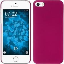 Hardcase Apple iPhone 5 / 5s / SE rubberized hot pink Cover + protective foils
