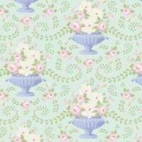 By the Metre 100/% Cotton Tilda Fabrics Lemon Tree Range Retro Boogie Flower Red