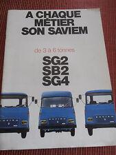 CATALOGUE CAMION SAVIEM RENAULT SG 2 / SB 2 / SG 4 ( ref 48 )
