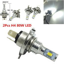 2Pcs 9003 H4 LED Car Headlights Bulbs Kit High&Low Beam 80W White 4000lm 6000K