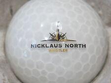 (1) Nicklaus North Jack Nicklaus Whistler Golf Course Logo Golf Ball
