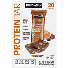 Kirkland Signature Protein Bar, Chocolate Peanut Butter Chunk, 2.12 oz, 20 ct