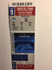 NEW YORK GIANTS VS TENNESSEE  TITANS DECEMBER 16, 2018 TICKET STUB