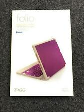 New ZAGG Bluetooth Hinge Keyboard Folio Case, For Apple iPad Air, Orchid