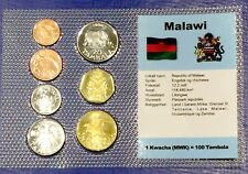 Malawi 1t - 1 kwacha 1995-1996 XF UNC Circulation Coin Set - World Currencies