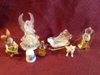 CHECK OUT Lot of Miniatures!! Fun, Unique Little!! Sled, Angels, Thimbles & More