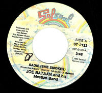 CANADA FUNK SOUL 1980 45 RPM JOE BATAAN AND HIS MESTIZO BAND : SADIE (SHE SMOKES