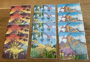 12 New Mini Dinosaur Jigsaw Puzzle Loot Bag Fillers Birthday Party Favours Game