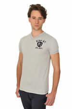 Aeropostale Camiseta Hombre S Gris algodón  Tela asargada